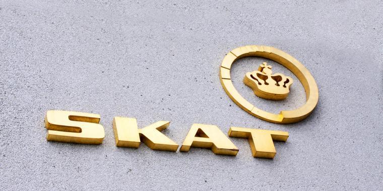 Skat logo på bygning