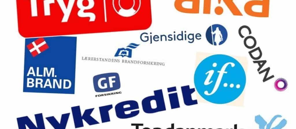 Forskellige forsikringsselskabers logo