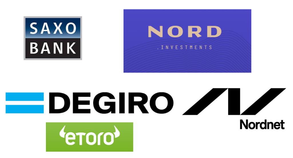 Alle handelsplatforme inkl. Nordnet, Saxo Bank, Nord.investments, DEGIRO og ETORO