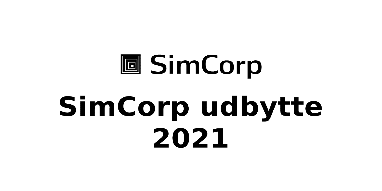 Simcorp udbytte 2021