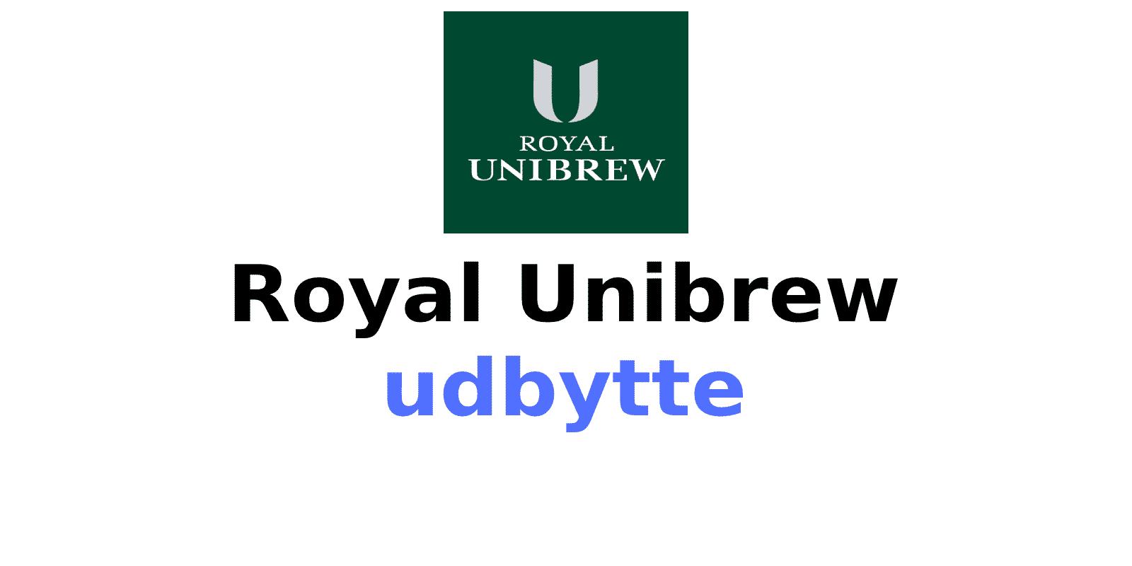 Royal Unibrew Udbytte