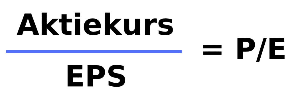 Aktiekurs divideret med EPS giver P/E