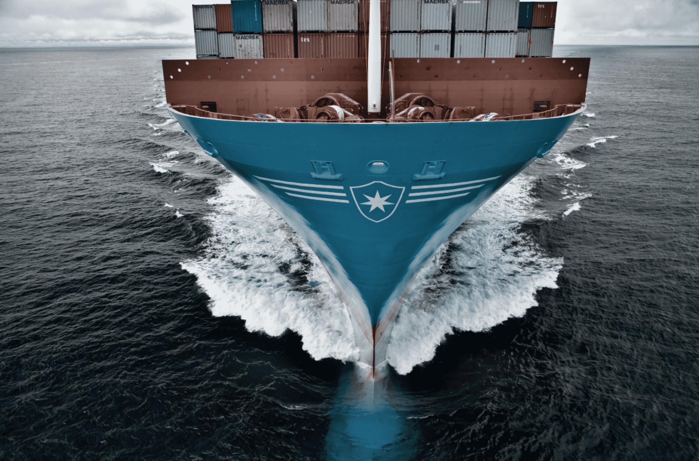Mærsk skib forfra
